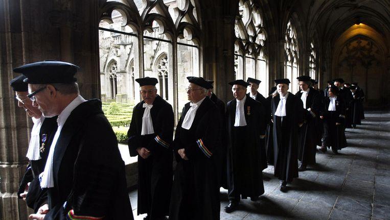 Hoogleraren van de Universiteit Utrecht. Beeld anp