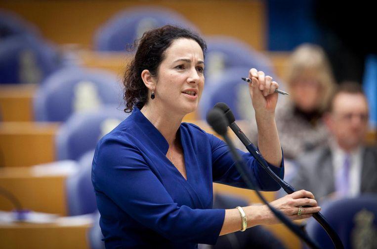 Femke Halsema in de Tweede Kamer. Beeld anp