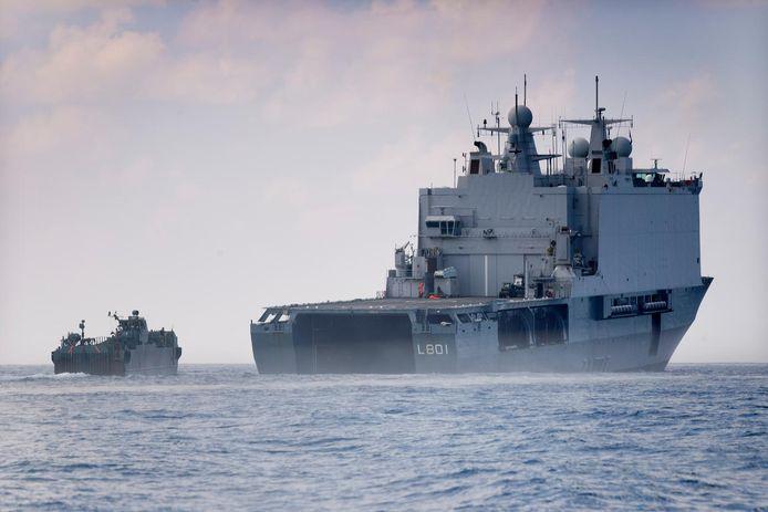 Het marineschip Zr. Ms. Johan de Witt.