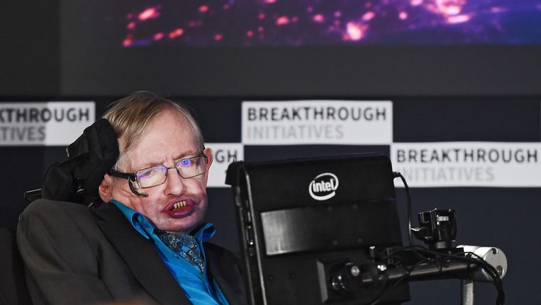 Stephen Hawking Beeld epa