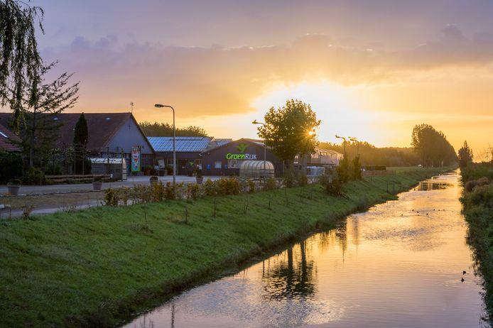 Het inmiddels gesloten tuincentrum GroenRijk aan de rand van Dronten.