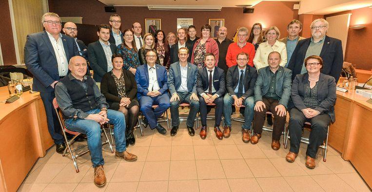 De nieuwe gemeenteraad in Wervik.