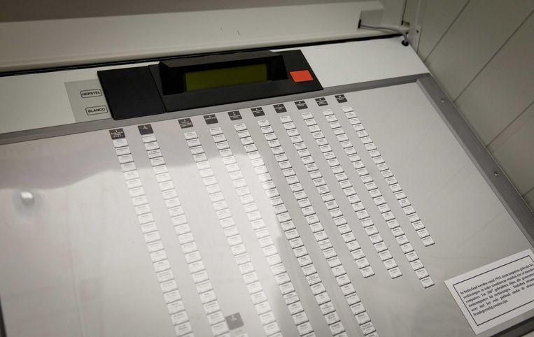 Een stemcomputer Beeld anp