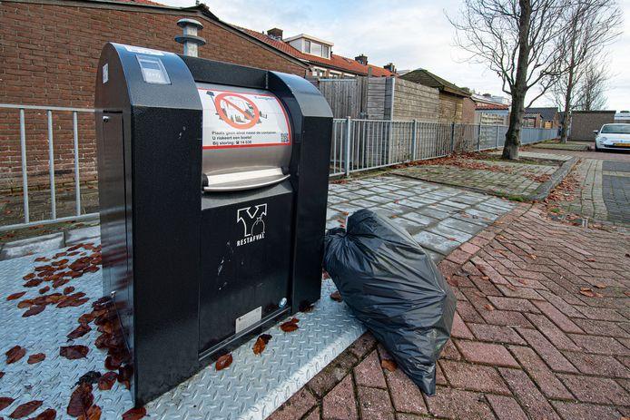 Foto ter illustratie van afvalcontainer.