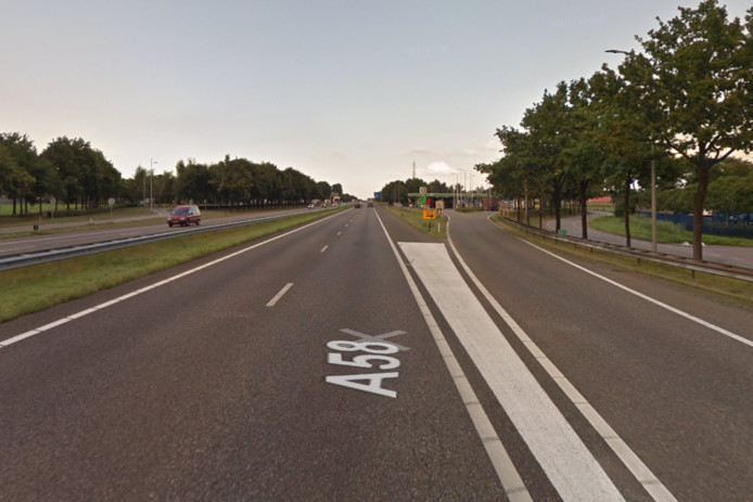 De A58 richting Breda is in juli twee weekenden dicht.