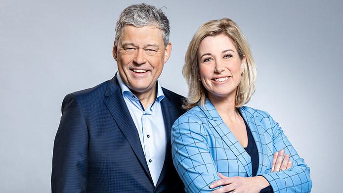 Het duo Charles Groenhuijsen en Carrie ten Napel.