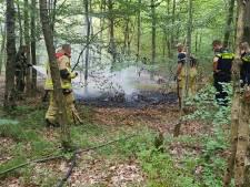 Gestolen scooter in brand gestoken in Enschedees bos