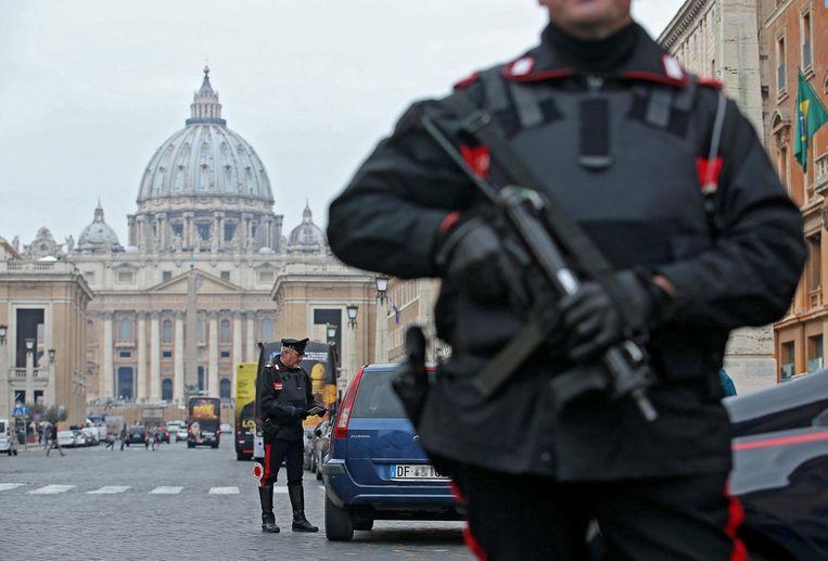 Extra beveiliging in Rome. Beeld epa