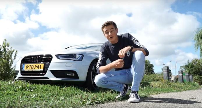 Don de Jong, bekend als NLxDon op YouTube, uit Oude Wetering met zijn Audi A4.