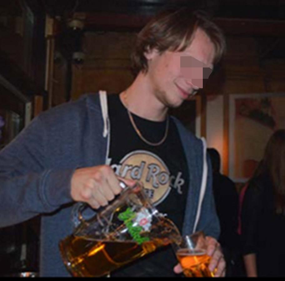 Thijs H. tijdens zijn studententijd, een paar jaar geleden.