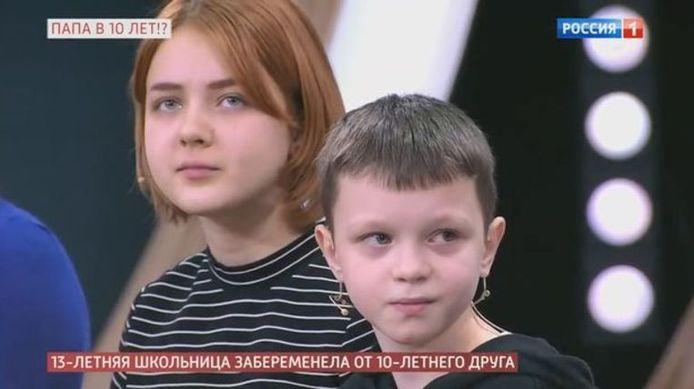 Capture d'écran: Daria et Ivan sont venus témoigner avec l'accord de leurs parents