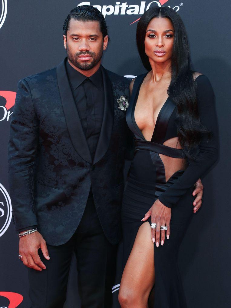 American Football-speler Russell Wilson en zijn vrouw, zangeres Ciara.