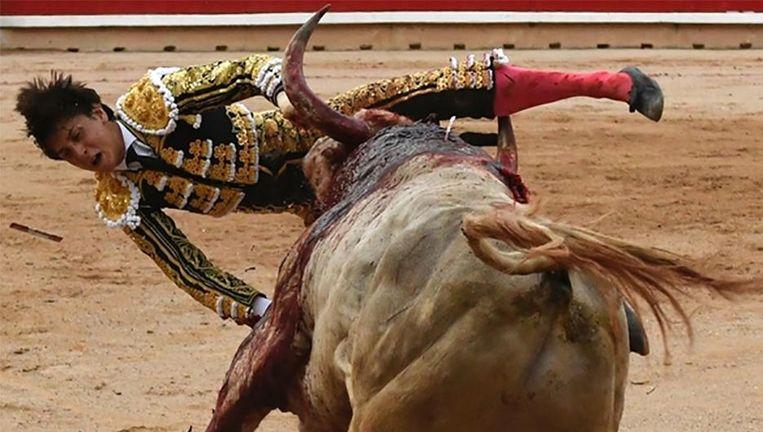 Andres Roca Rey werd dinsdag andermaal verslagen door een stier.