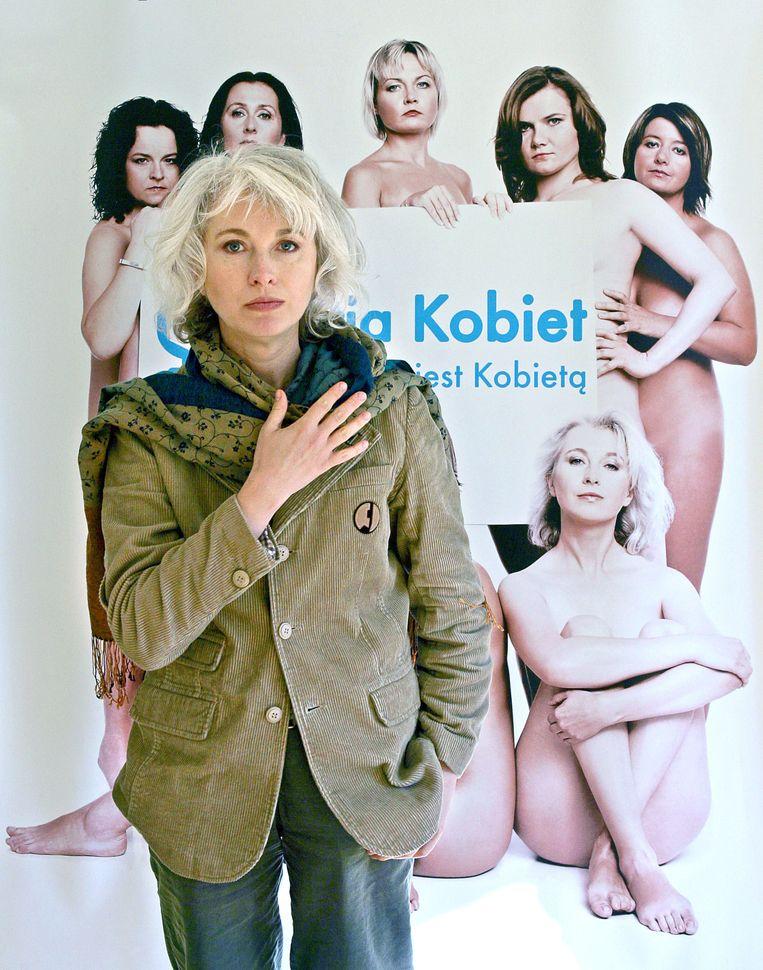 Oprichtster van de Vrouwenpartij Manuela Gretkowska Beeld afp
