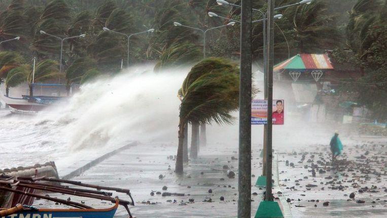 Legazpi, de hoofdstad van de Filipijnse provincie Albay op Luzon. Beeld afp