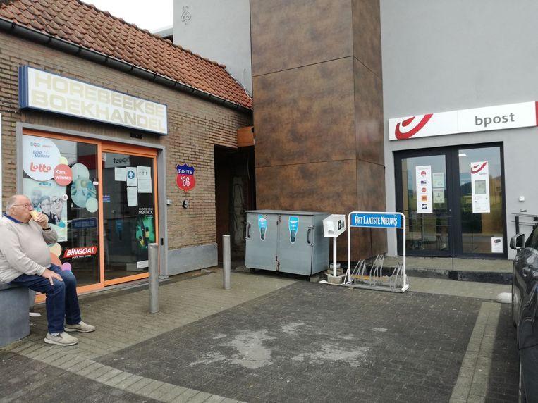 Het postkantoor van Bpost in Horebeke bevindt zich nu naast de Horebeekse Boekhandel.
