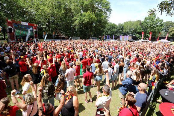 Het Duivels Park van Wevelgem tijdens het vorige Wereldkampioenschap voetbal.