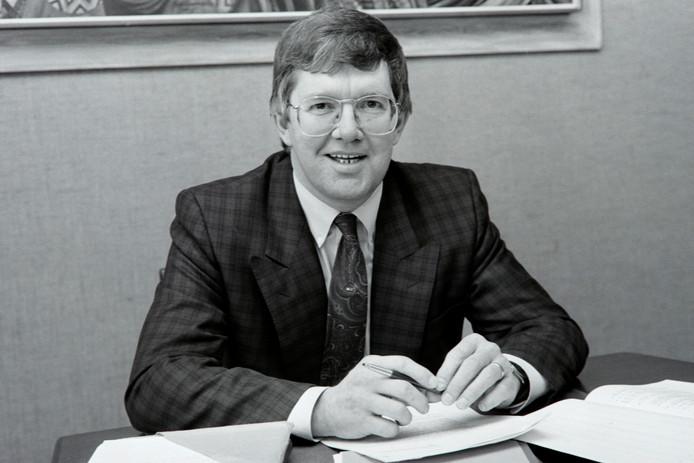 Een archieffoto van Roland Janssen uit de tijd toen hij nog wethouder was in de zelfstandige gemeente Mierlo.