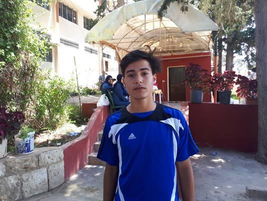 Bashar (15) uit Libanon.