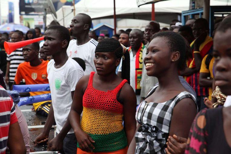 Ghanese voetbalfans in Brazilië Beeld afp