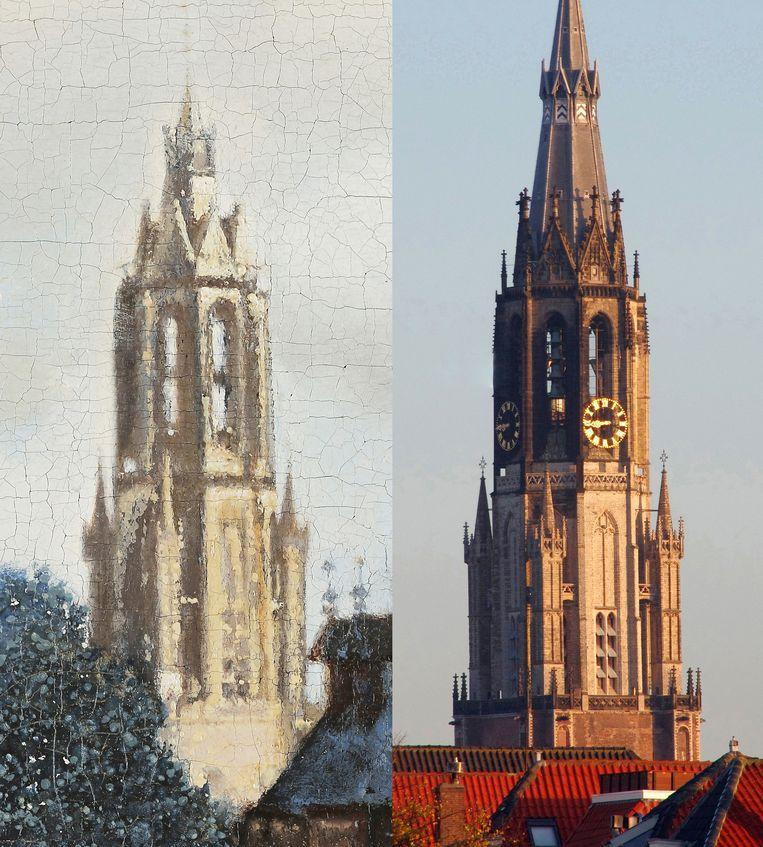 De Nieuwe Kerk in Delft in de zon, bij Vermeer en anno 2020. Beeld