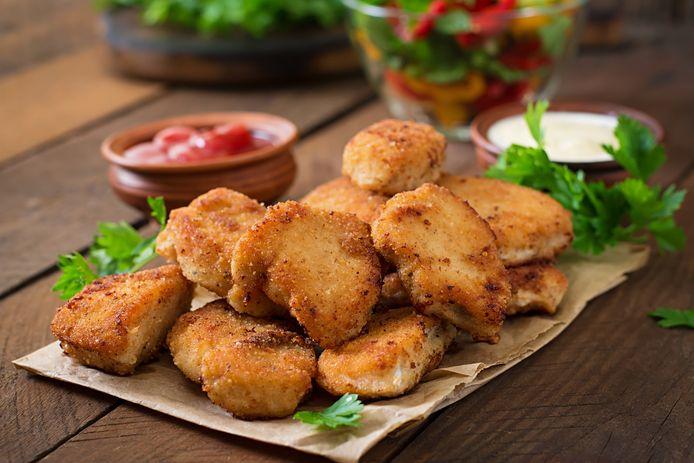 Het bedrijf maakt nuggets zoals de exemplaren van kip op de foto.