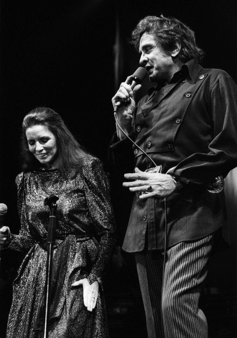 Johnny met zijn vrouw June Carter. Beeld epa