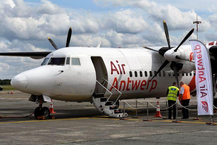 Op Antwerp Airport is maandag de eerste vlucht van Air Antwerp vertrokken.