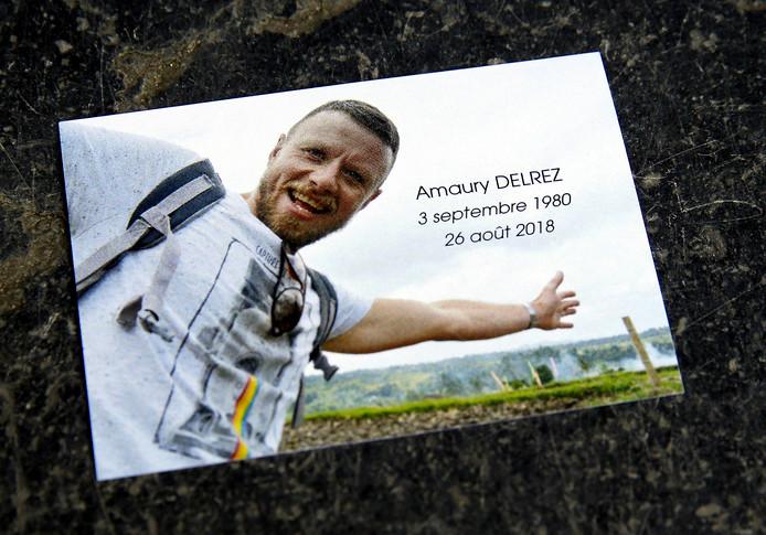 De herdenkingsfoto voor Amaury Delrez.