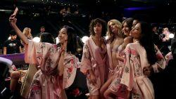 Victoria's Secret-Angels maken zich klaar voor show in Shanghai