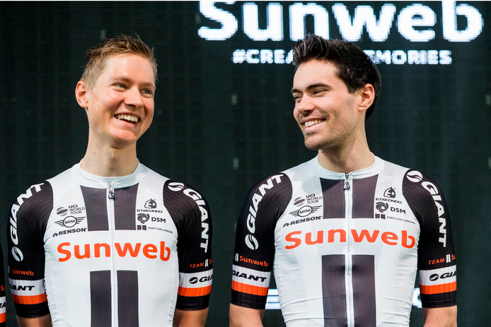 Wilco Kelderman en Tom Dumoulin.