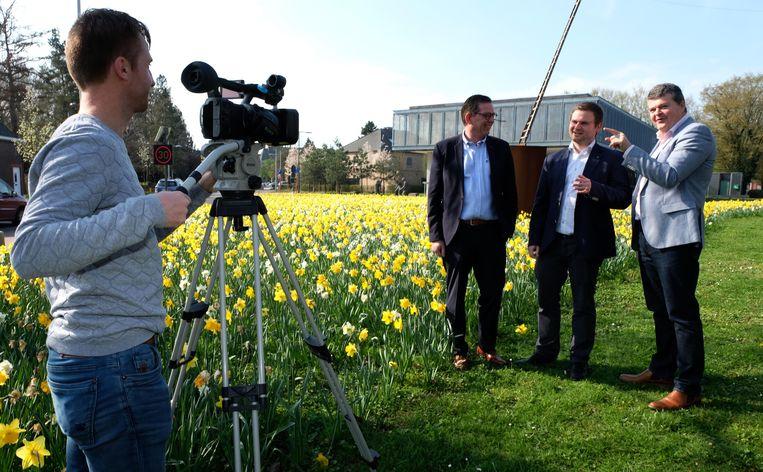 Schepen Bart Vanmarcke (Open Vld) staat bij de komende verkiezingen voor het Vlaamse parlement op de dertiende plaats. Hier tijdens de opnames van het filmpje waarin dat bekendgemaakt wordt.