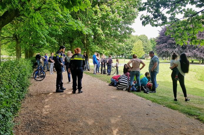 Vechtpartij park Oisterwijk