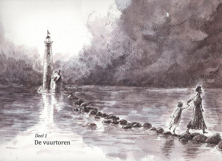 Illustratie van Annet Schaap in haar boek Lampje. Beeld Annet Schaap