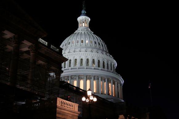 Het Capitool in Washington voor de president arriveert om er zijn State of the Union te geven.