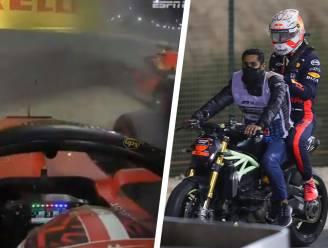 """Meteen exit Verstappen na tik Leclerc in Bahrein: """"Ik vind het gewoon dom'"""