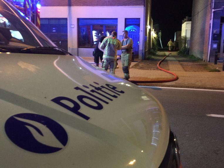 ARCHIEFBEELD - Brandweer en politie in actie in Willebroek.