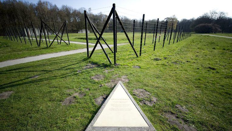 De restanten van de strafbarakken op het terrein van het voormalige Kamp Westerbork. Foto ANP Beeld