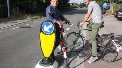Nieuwe opstelling biedt fietsers 'rugdekking' bij het verlaten van gescheiden fietspad