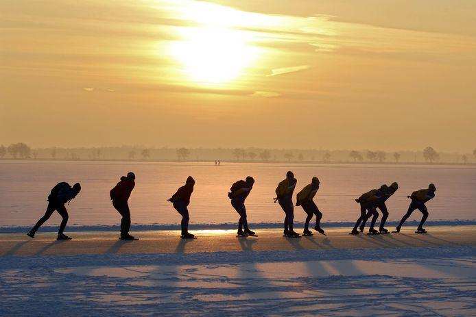 Schaatsen op de Belterwiede. Met versoepelde coronamaatregelen kan dat wellicht deze winter ook.