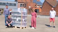 Unizo Roeselare schenkt 720 flessen handgel aan zelfstandige thuisverplegers