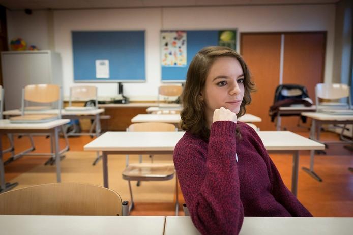 De Nijmeegse scholiere Samantha Tolhuisen op het Westeraam in Elst.