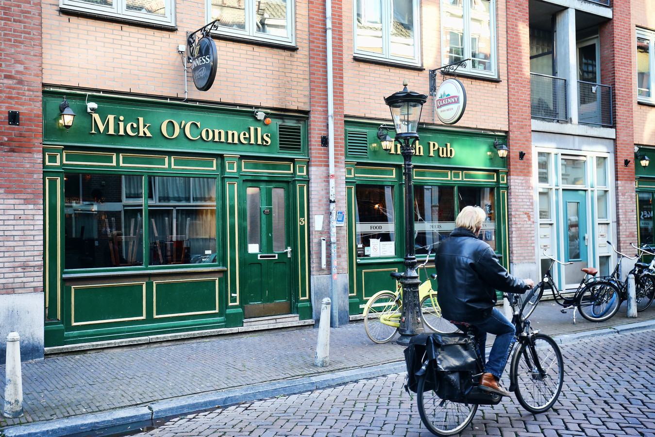 De Ierse pub Mick O'Connells aan de Jansdam in hartje Utrecht.