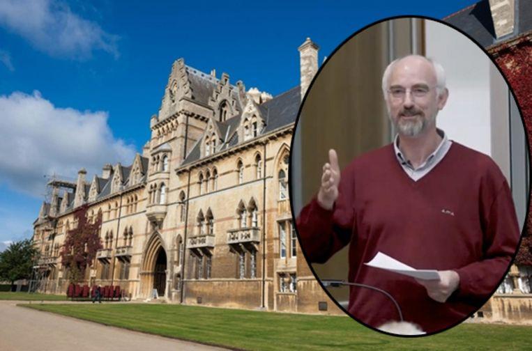 Het prestigieuze Christ Church College in Oxford, waar Joosten tot maandagavond les gaf. Intussen werd hij geschorst door de universiteit van Oxford.