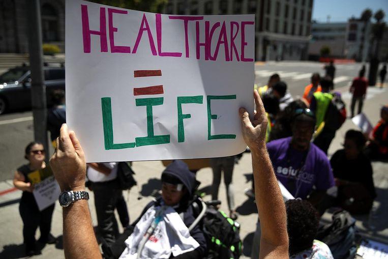 Protest tegen Trumpcare: 'zorgstelsel = leven' Beeld null