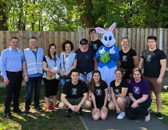 GLABBEEK-Paaseitjesfeest- dankzij de steun van Unizo Hageland en Bunker Jeugd in samenwerking met de gemeente Glabbeek