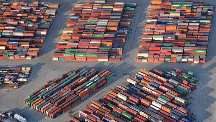 Containers in de Antwerpse haven.