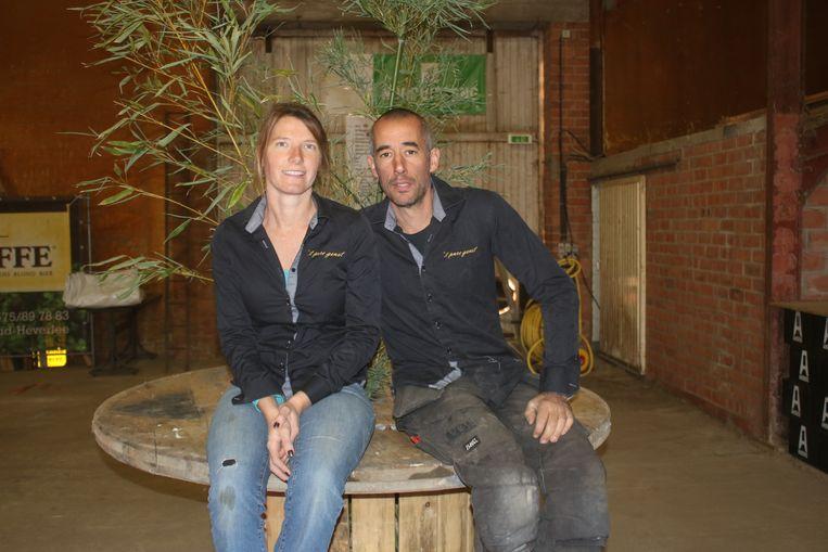 't Pure Genot organiseert benefiet 100 km Kom op Tegen Kanker. Organisatoren Filip Butaye en Eveline Weynants.