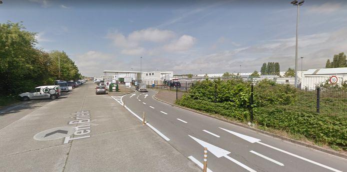 Het containerpark in Sint-Michiels, Brugge.