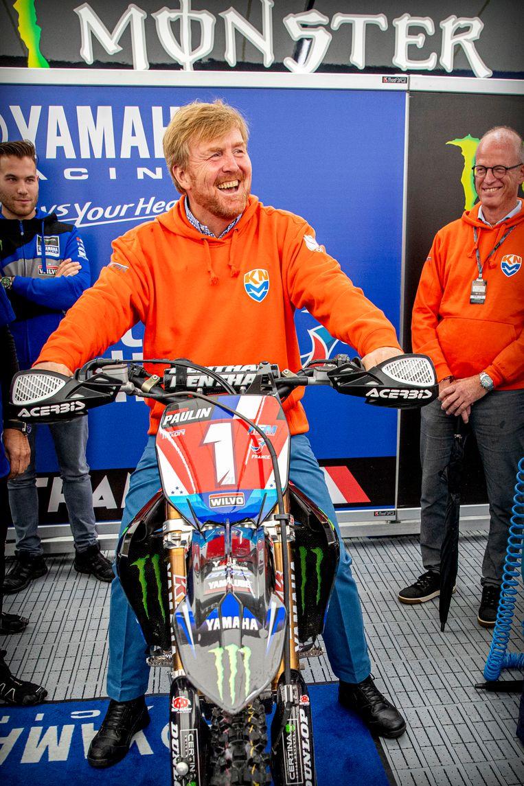 Koning Willem-Alexander bij het evenement in Assen.  Beeld BSR Agency